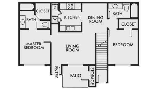 2bd 2bth Downstair